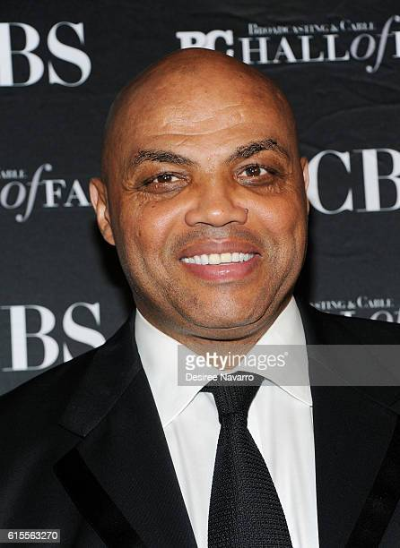 Retired NBA player Charles Barkley attends the 2016 Broadcasting Cable Hall of Fame 26th Anniversary Gala at The Waldorf Astoria on October 18 2016...