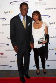 Retired NBA player Elgin Baylor and wife attend the 28th Anniversary Sports Spectacular Gala at the Hyatt Regency Century Plaza on May 19 2013 in...