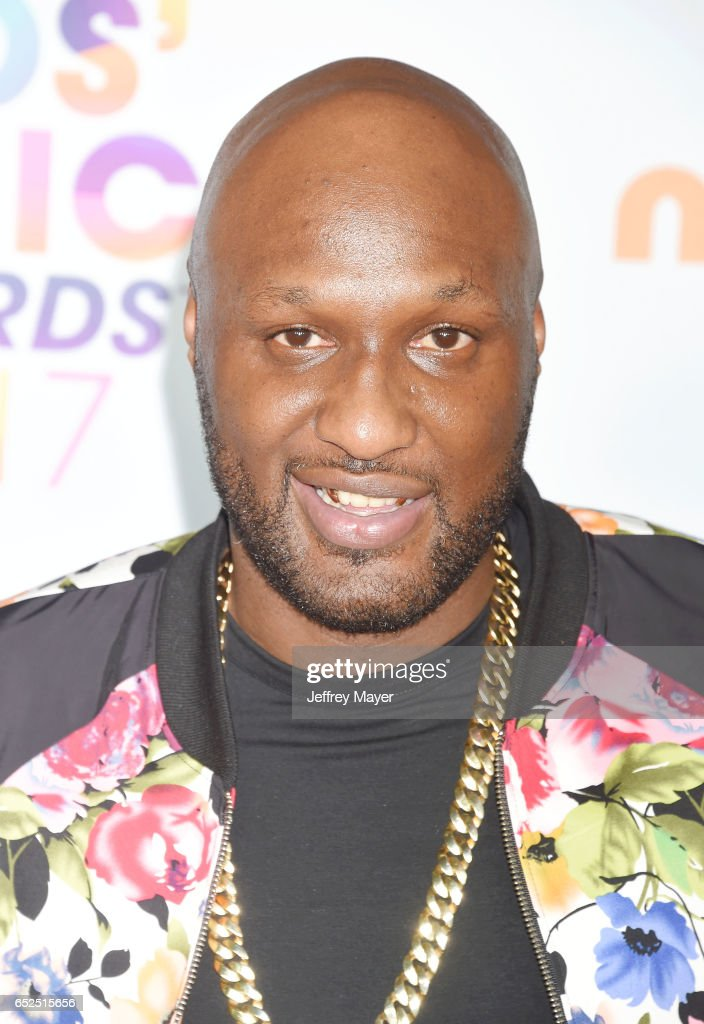Retired NBA player Lamar Odom arrives at the Nickelodeon's 2017 Kids' Choice Awards at USC Galen Center on March 11, 2017 in Los Angeles, California.