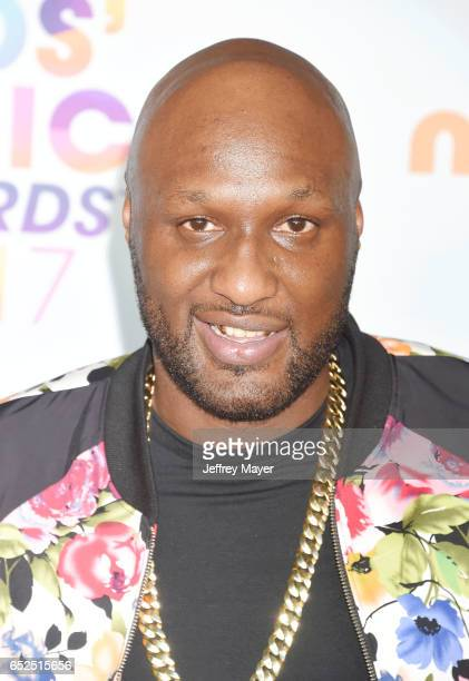 Retired NBA player Lamar Odom arrives at the Nickelodeon's 2017 Kids' Choice Awards at USC Galen Center on March 11 2017 in Los Angeles California