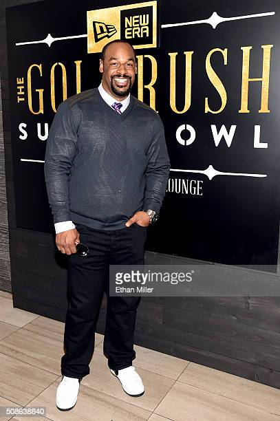 Retired NFL player Donovan McNabb attends the New Era Style Lounge at The Battery on February 5 2016 in San Francisco California
