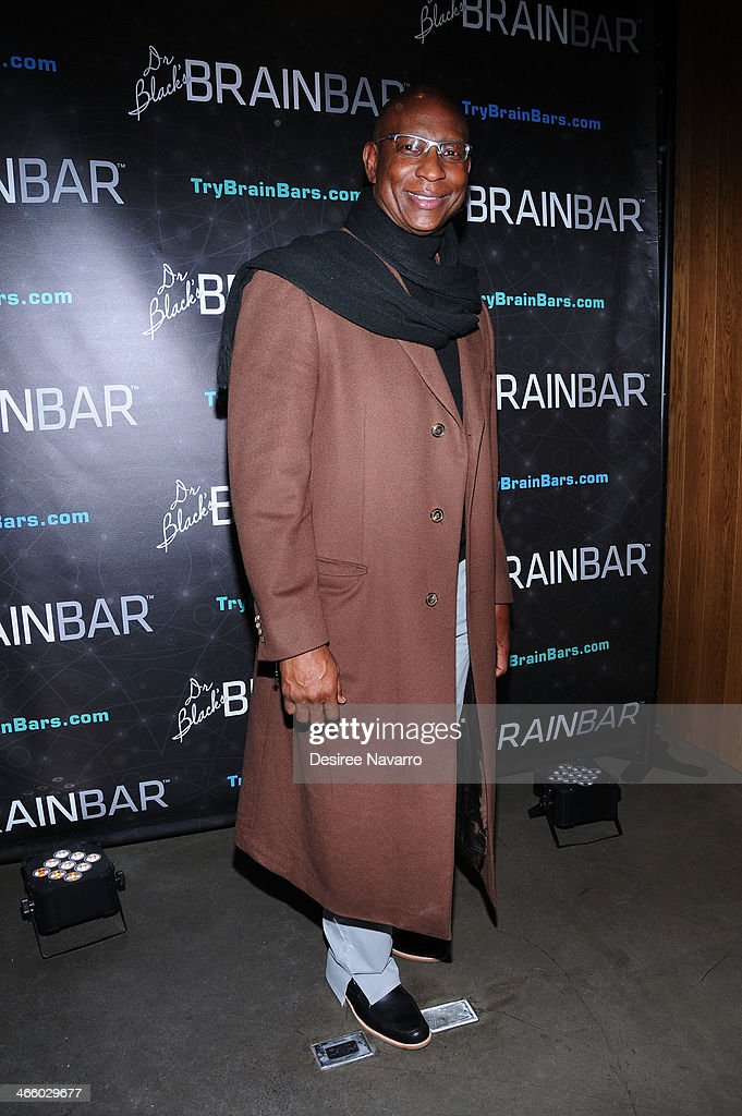 Retired NFL player <a gi-track='captionPersonalityLinkClicked' href=/galleries/search?phrase=Eric+Dickerson&family=editorial&specificpeople=224731 ng-click='$event.stopPropagation()'>Eric Dickerson</a> attends Dr. Black's Brain Bar Super Bowl XLVIII Launch Event at PH-D Rooftop Lounge at Dream Downtown on January 30, 2014 in New York City.
