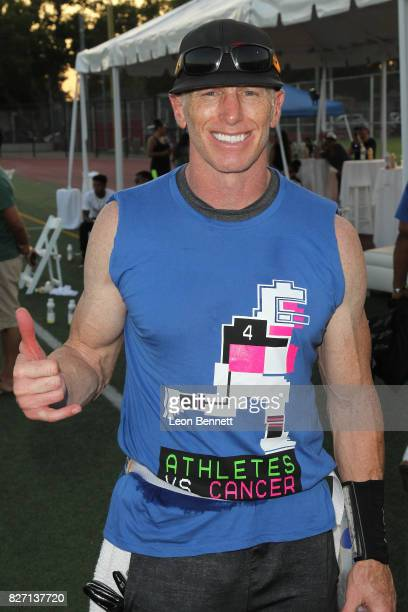 Retired NFL player Jeff Garcia attends Athletes vs Cancer's Celebrity Flag Football Game at John Burroughs High School on August 6 2017 in Burbank...