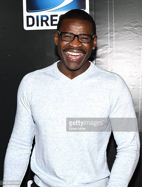 Retired NFL player Michael Irvin attends DirecTV Super Saturday Night hosted by Mark Cuban's AXS TV and Pro Football Hall of Famer Michael Strahan at...