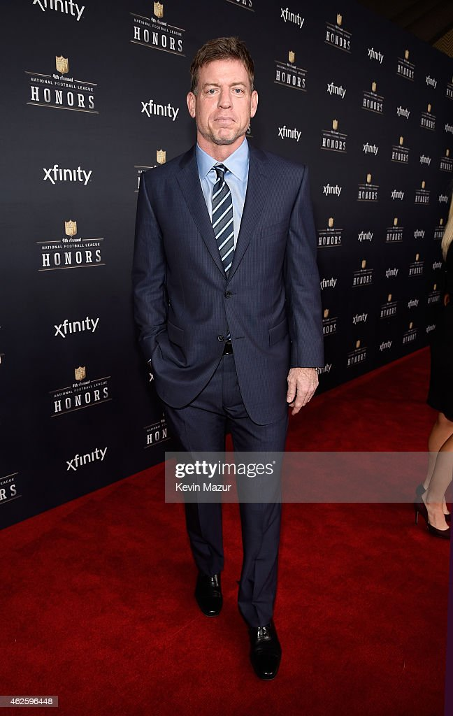 Retired NFL player <a gi-track='captionPersonalityLinkClicked' href=/galleries/search?phrase=Troy+Aikman&family=editorial&specificpeople=206871 ng-click='$event.stopPropagation()'>Troy Aikman</a> attends the 4th Annual NFL Honors at Phoenix Convention Center on January 31, 2015 in Phoenix, Arizona.