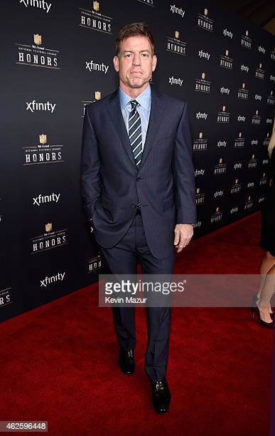 Retired NFL player Troy Aikman attends the 4th Annual NFL Honors at Phoenix Convention Center on January 31 2015 in Phoenix Arizona