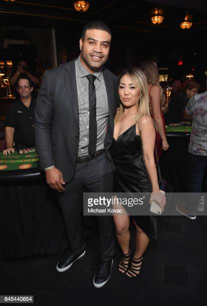 Retired NHL Shawn Merriman Stacey Yol at the Heroes for Heroes Los Angeles Police Memorial Foundation Celebrity Poker Tournament at Avalon on...
