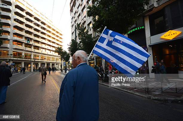 Retired personnel and veterans of Hellenic Armed Forces and Security Forces demonstrate in Athens against the new austerity measures that the Greek...