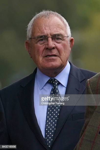Retired police officer Donald Denton arrives at Preston Crown Court on September 6 2017 in Preston England Five men charged over the 1989...