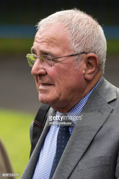 Retired police officer Donald Denton arrives for his first court appearance in connection with the 1989 Hillsborough football stadium disaster at...