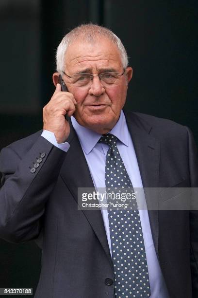 Retired police officer Donald Denton leaves Preston Crown Court on September 6 2017 in Preston England Five men charged over the 1989 Hillsborough...