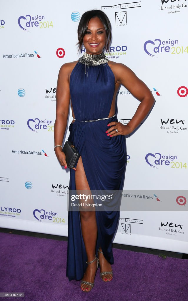 Retired professional boxer Laila Ali attends the HollyRod Foundation's 16th Annual DesignCare at The Lot Studios on July 19, 2014 in Los Angeles, California.