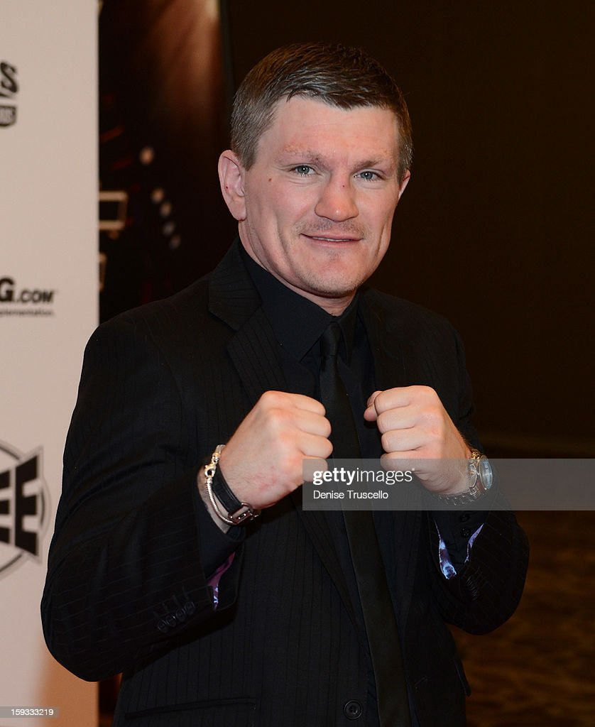 Retired professional boxer <a gi-track='captionPersonalityLinkClicked' href=/galleries/search?phrase=Ricky+Hatton&family=editorial&specificpeople=208674 ng-click='$event.stopPropagation()'>Ricky Hatton</a> arrives at the Fighters Only World Mixed Martial Arts Awards 2013 at the Hard Rock Hotel & Casino on January 11, 2013 in Las Vegas, Nevada.