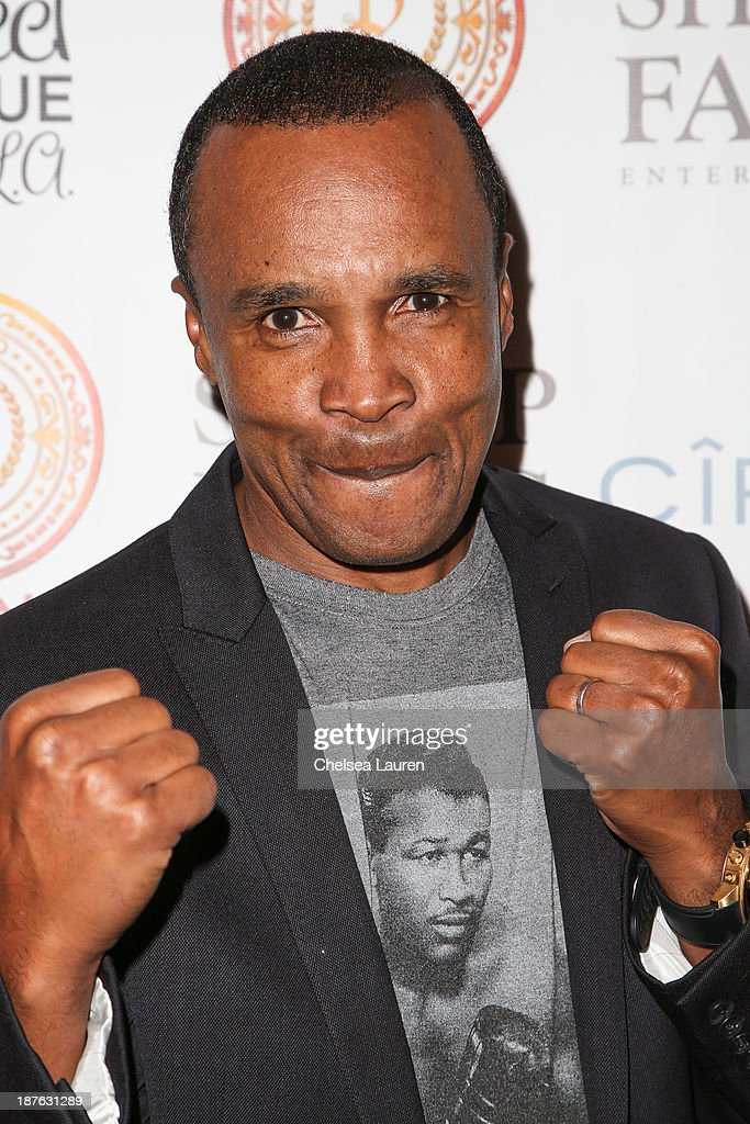 Retired professional boxer <a gi-track='captionPersonalityLinkClicked' href=/galleries/search?phrase=Sugar+Ray+Leonard&family=editorial&specificpeople=206479 ng-click='$event.stopPropagation()'>Sugar Ray Leonard</a> arrives at Tommy Davidson's birthday celebration at H.O.M.E. on November 10, 2013 in Beverly Hills, California.