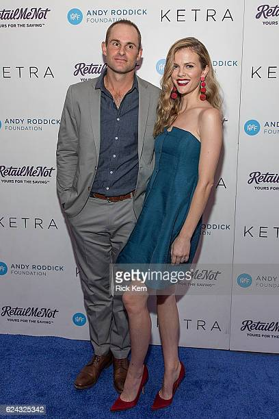 Retired professional tennis player Andy Roddick and model Brooklyn Decker attend the 11th Annual Andy Roddick Foundation Gala at ACL Live on November...