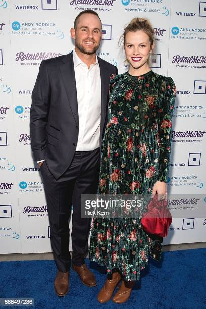 Retired professional tennis player Andy Roddick and Model Brooklyn Decker attend the 12th Annual Andy Roddick Foundation Gala at ACL Live on October...