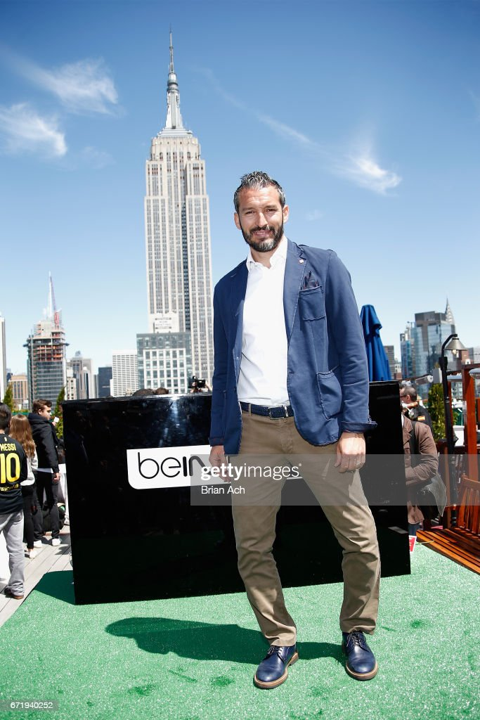 Retired soccer player Gianluca Zambrotta attends a roofop viewing party of El Clasico - Real Madrid CF vs FC Barcelona hosted by LaLiga at 230 Fifth Avenue on April 23, 2017 in New York City.
