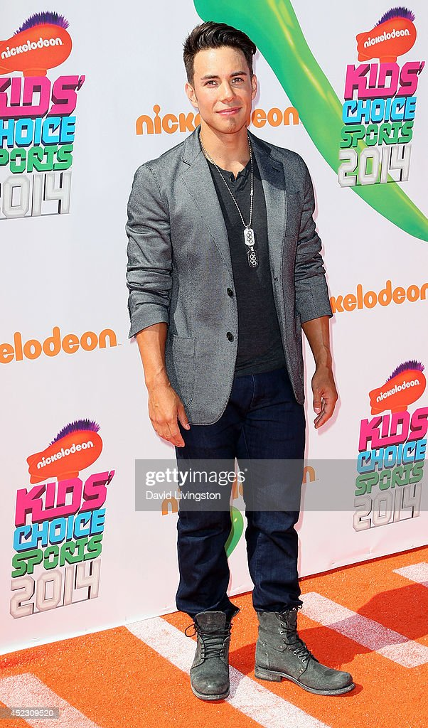 Retired speed skating Olympian Apolo Ohno attends the Nickelodeon Kids' Choice Sports Awards 2014 at Pauley Pavilion on July 17, 2014 in Los Angeles, California.