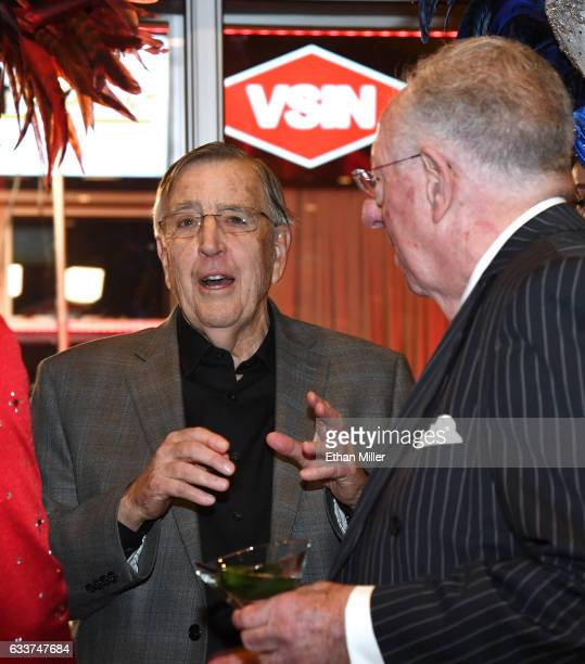 Retired sportscaster and VSiN managing editor and lead host Brent Musburger speaks with former Las Vegas Mayor and current Chairman of the Las Vegas...