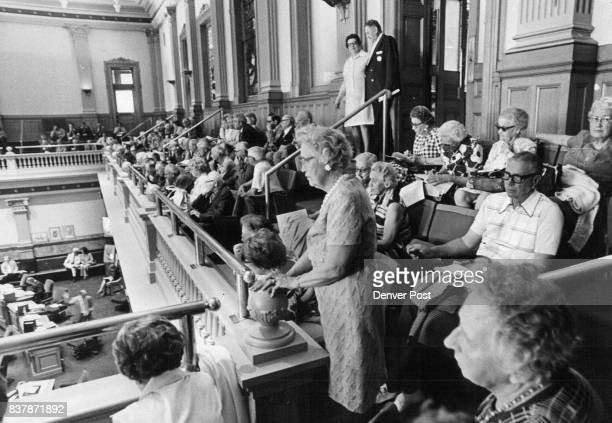 Retired State Workers Seek Benefit Boost About 50 retired citizens crowd a balcony of the House of Representatives Friday where they were lobbying...