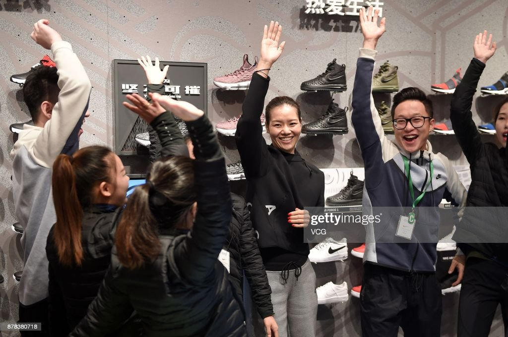 Li Na Attends Nike Event In Shanghai
