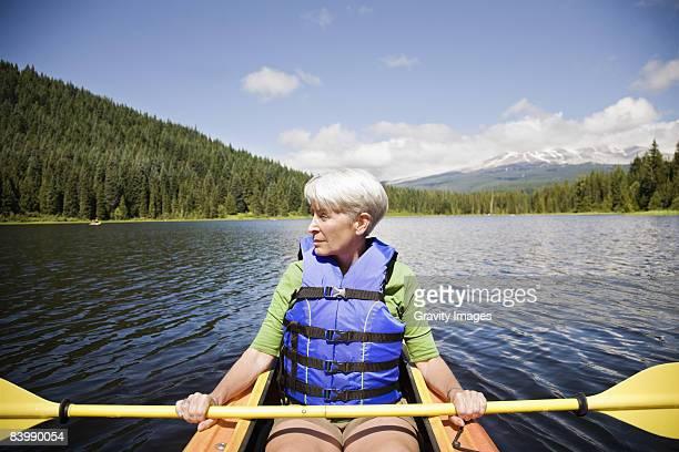 Retired Woman Kayaking