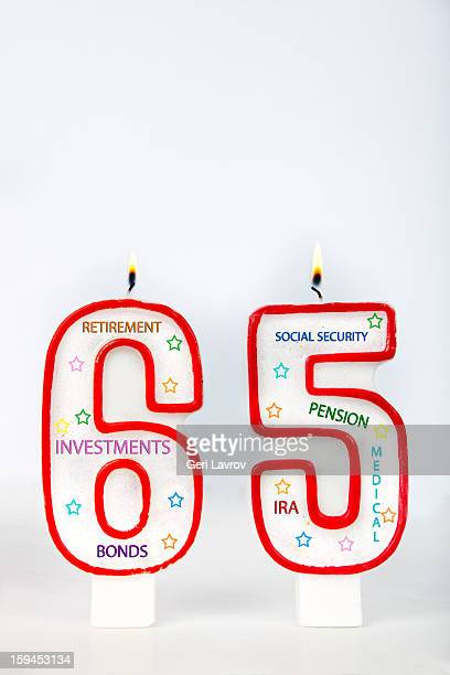Retirement birthday candles