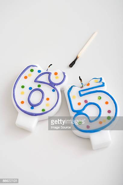 Retirement birthday candles