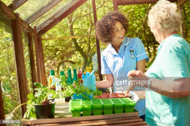 retirement home greenhouse