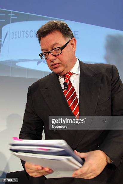 Reto Francioni chief executive officer of Deutsche Boerse AG arrives for a news conference in Frankfurt Germany on Wednesday Feb 17 2010 Deutsche...