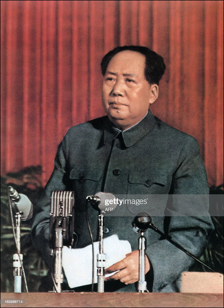 A retouched picture released by Chinese official news agency of Mao Zedong Chairman of the Chinese Communist Party from 1935 until his death in 1976...