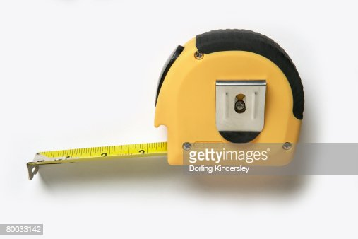 retractable tape measure stock photo getty images. Black Bedroom Furniture Sets. Home Design Ideas