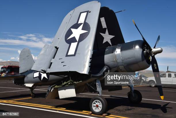 Retractable wings are featured on this War World 11 AirForce plane on display at the 54th National Championship Air Races the only closed course...