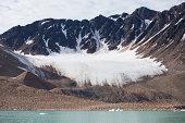 Retreating glacier in the Arctic