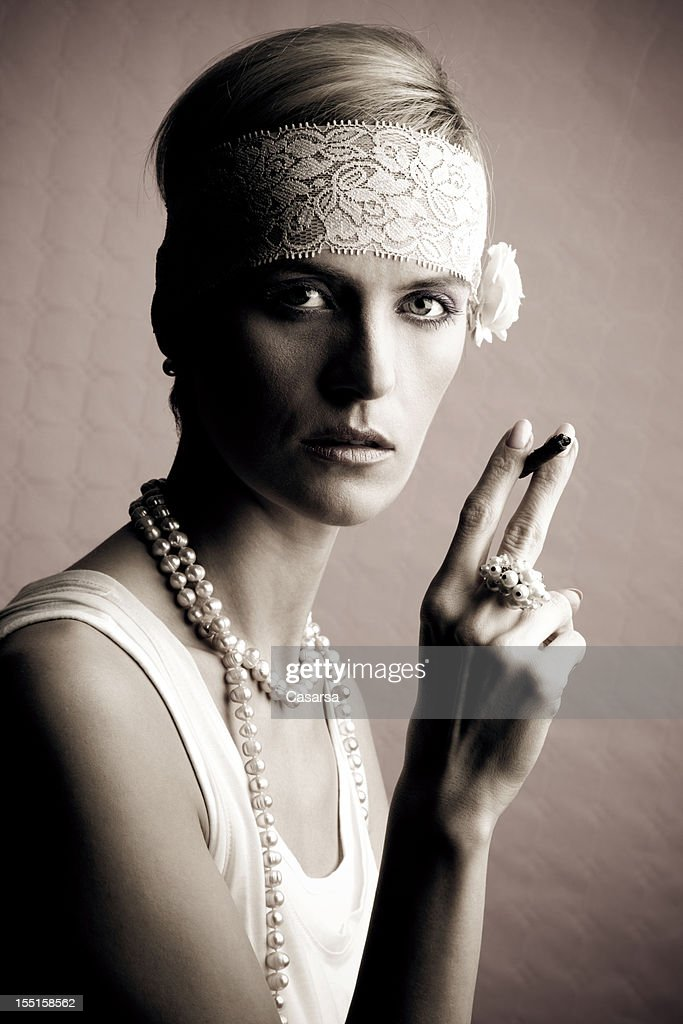 Retro 1920 style woman portrait