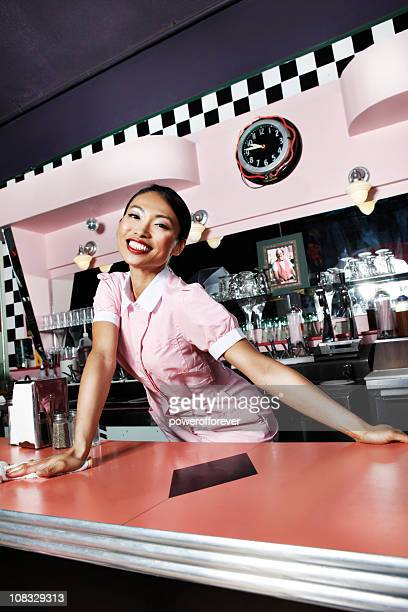 Retro 50's Waitress with Welcoming Smile