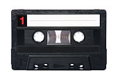 Retro audio tape isolated