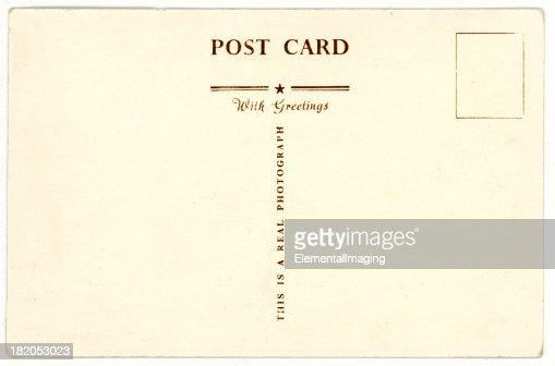 Retro Background Image Of An Vintage Antique Postcard Back Stock
