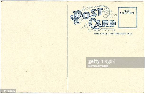 Retro Background Image of an Vintage Antique Postcard Back