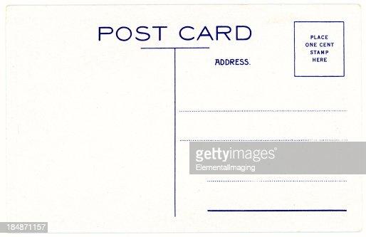 Retro Background Image of an Vintage Antique Postcard Back