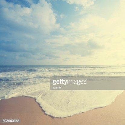 Retro beach : Stock Photo
