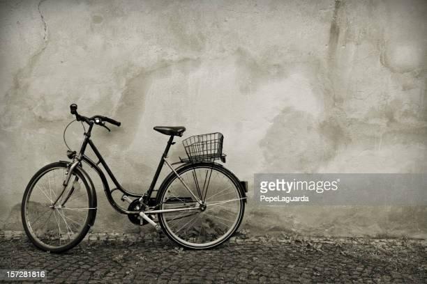 Retro: bike leaning on wall