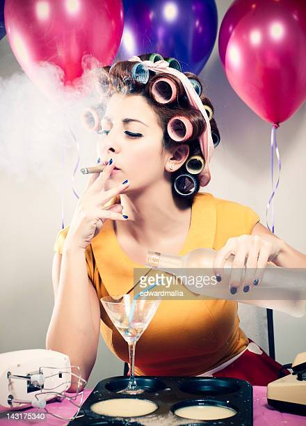 Retro Birthday Smoking & Drinking