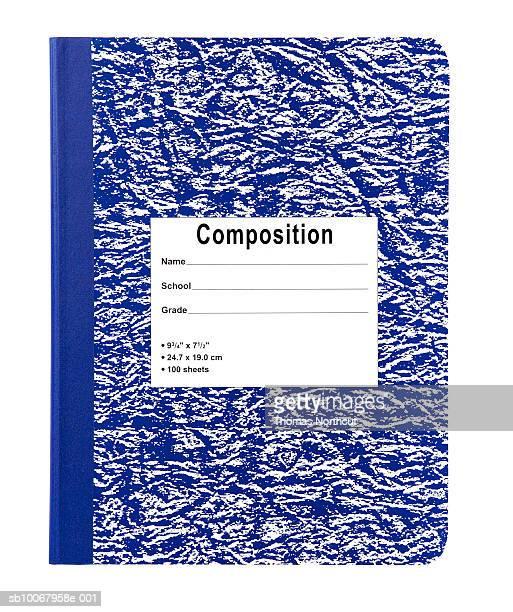 Retro blue and white workbook