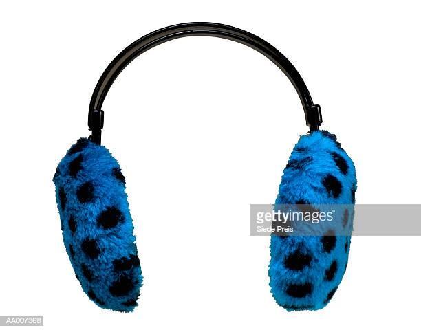 Retro Blue Earmuffs