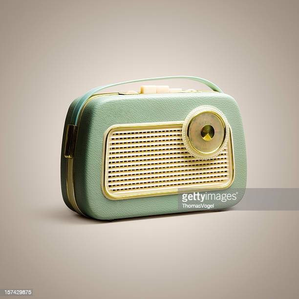 Retro boom box. Music Vintage Sound Background