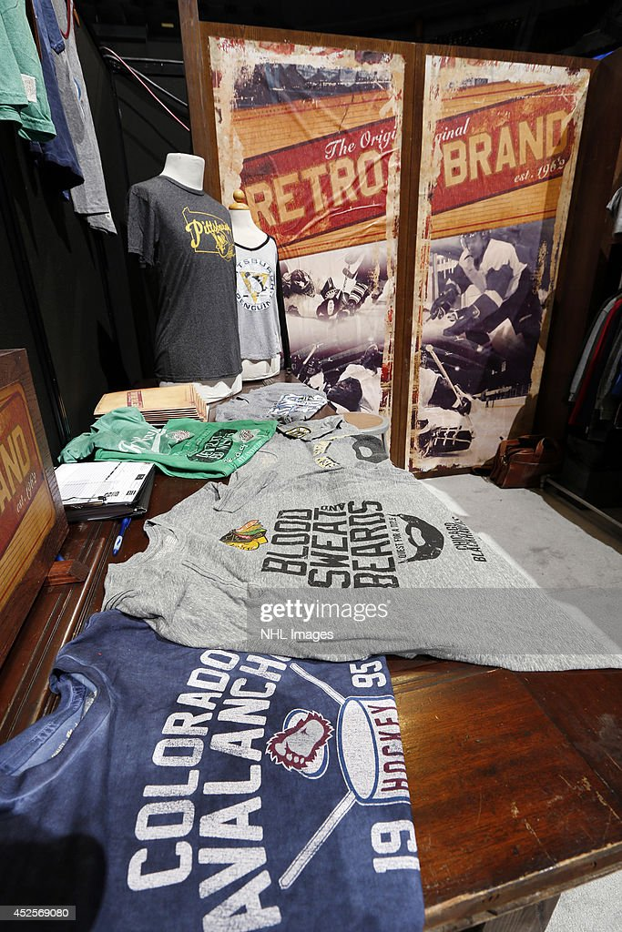 Retro Brand shows it's clothing line at the 2014 NHL Exchange at Pepsi Center on July 23, 2014, in Denver, Colorado.