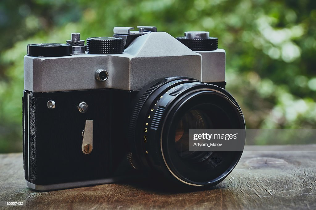 Retro camera : Stock Photo