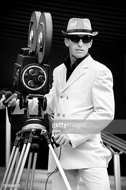 portrait rétro caméra Journaliste