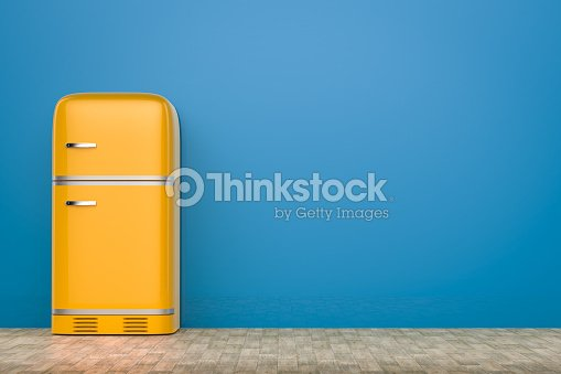retro design fridge stock foto thinkstock. Black Bedroom Furniture Sets. Home Design Ideas